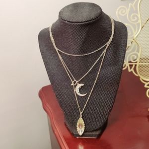 ⭐ 3 strand Necklace with charms. New.